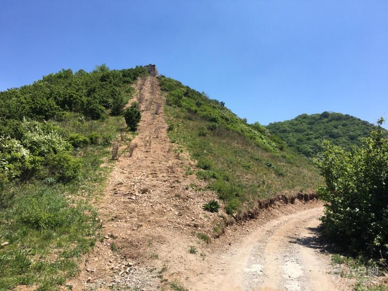 长峪城登山步道,观星路线高点,岔路
