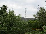 杨木鞍西岭子垭口西侧的信号塔,自此离开山梁向东过信号塔到杨木鞍西岭子间山脊垭口