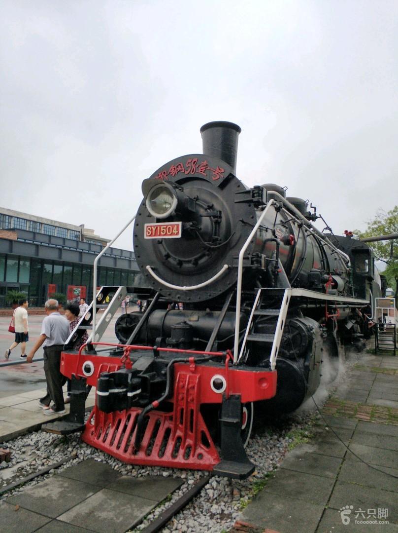 柳州工业博物馆老式烧煤火车头