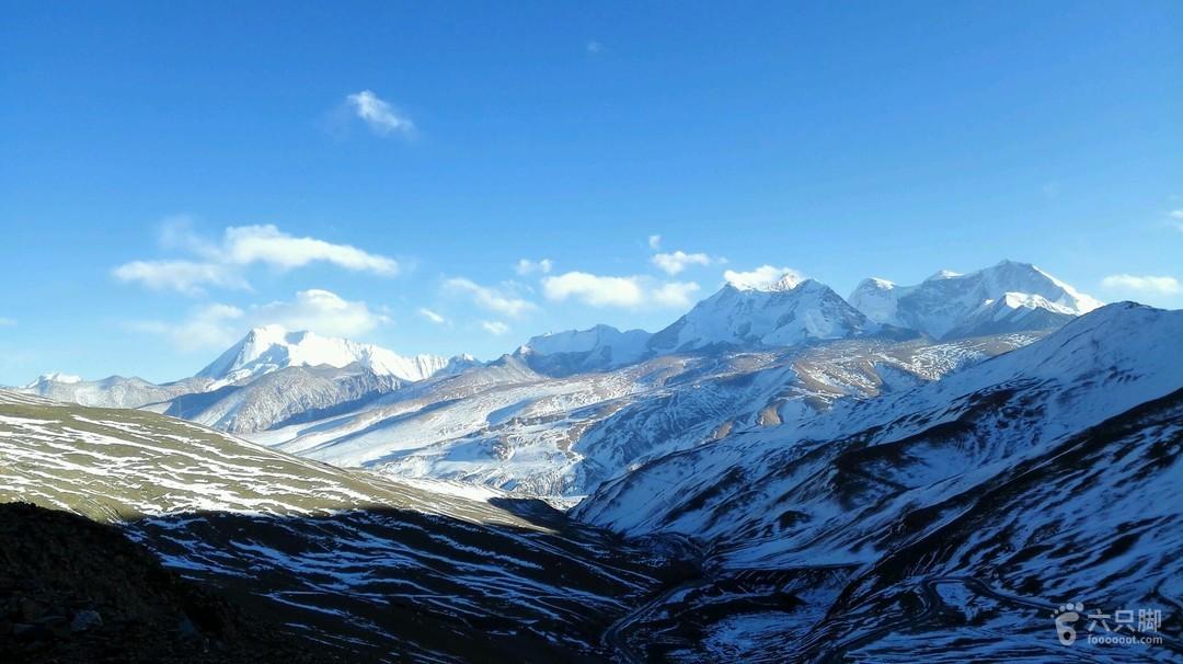 蒙达拉山口拍摄库拉岗日群峰日落未命名