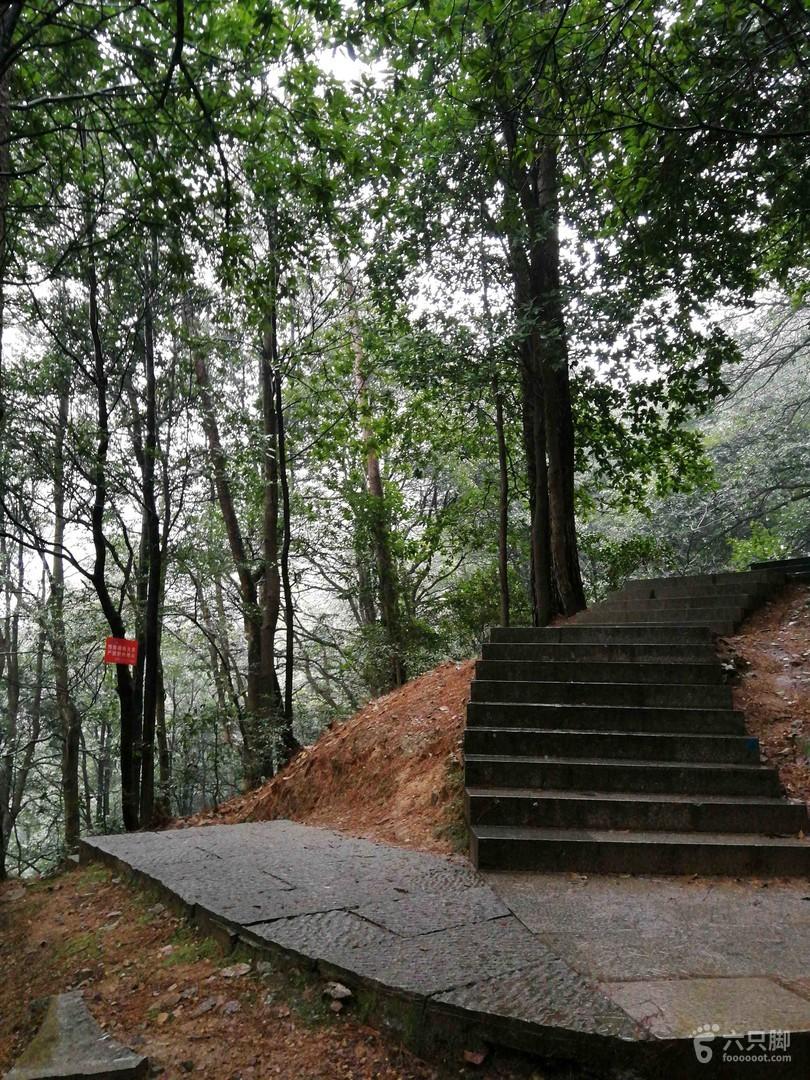 西湖景区十里锒铛游步道。指示牌,里面,左小牙坞。右三分叉,五云山,龙井村。
