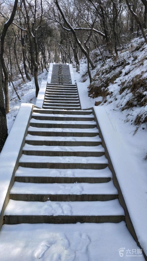 2019-01-10 雪后登嵩山峻极峰2